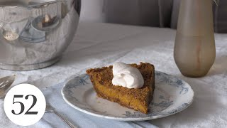 Pumpkin Pie with a Gingersnap Crust