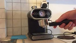 Making coffee with the Lidl espresso machine Silvercrest SEM1100 / Heinner HEM 1100BK