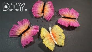 ♡ ❀ ♡ D.I.Y. Dual Tone Organza  Butterfly | MyInDulzens ♡ ❀ ♡
