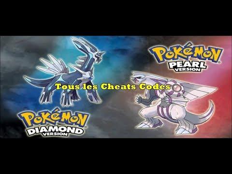 Pokemon Diamant Et Perle :  Comment Utiliser Les Cheats Codes