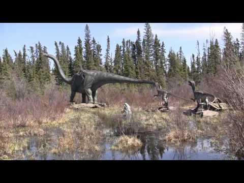 Jurassic Dinosaur Park in Alberta