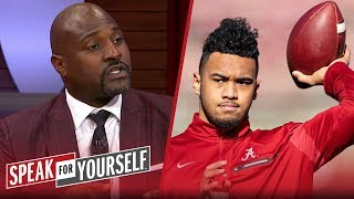 Marcellus Wiley on why Tua shouldn't even consider coming back to Alabama | CFB | SPEAK FOR YOURSELF