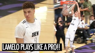 LaMelo Ball Plays Like A PRO In The Drew League Playoffs!