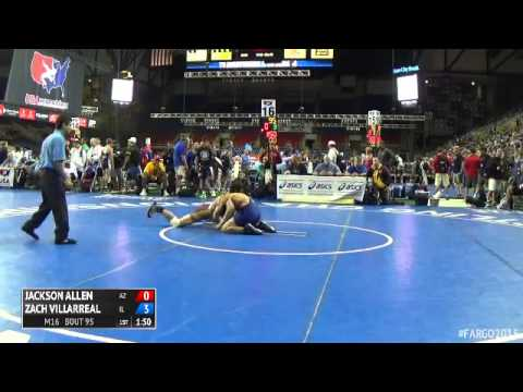126 Champ. Round 1 - Zach Villarreal (Illinois) vs. Jackson Allen (Arizona)