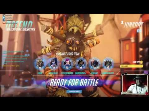 JunkRat Is LIFE!!! T-Pain TWITCH STREAM OF OVERWATCH