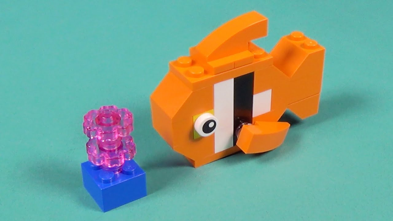 Lego fish building instructions lego classic 10695 how for Create a fish