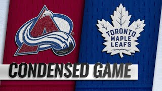 01/14/19 Condensed Game: Avalanche @ Maple Leafs