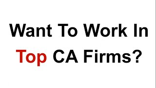 Articleship Reforms - Learn How Audit Is Done By Partner of Top CA Firm