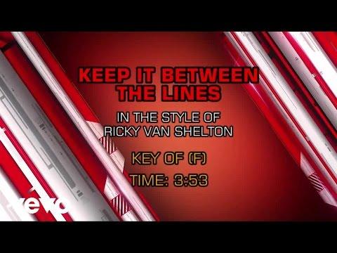 Ricky Van Shelton - Keep It Between the Lines (Karaoke)