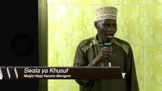 Live: Swala Khusuf Masjid Haqq Morogoro