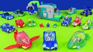 PJ Masks Unboxing: Alle Catboy, Gekko, Owlette & Romeo Lab Pyjamahelden Spielzeugautos für Kinder