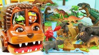뽀로로 공룡버스 장난감 자동차 놀이 동물 친구들과 공룡놀이판에서 재밌는 게임 Pororo Dinosaur Bus Animal Toy Car