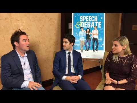 Darren Criss & Roger Bart - Speech & Debate live interview