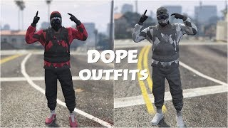 *NEW* GTA 5 ONLINE CREATE 2 RNG/TRYHARD MODDED OUTFITS USING CLOTHING GLITCHES 1.45!