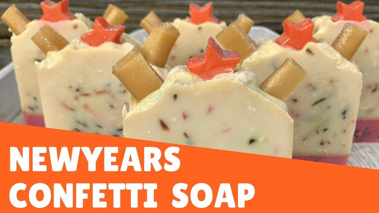 Happy New Year! 🎊 Confetti Soap Making 🎉 | Gypsyfae Creations