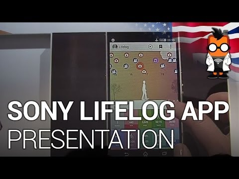 Sony Lifelog App Demonstration - Sony SmartBand Demo