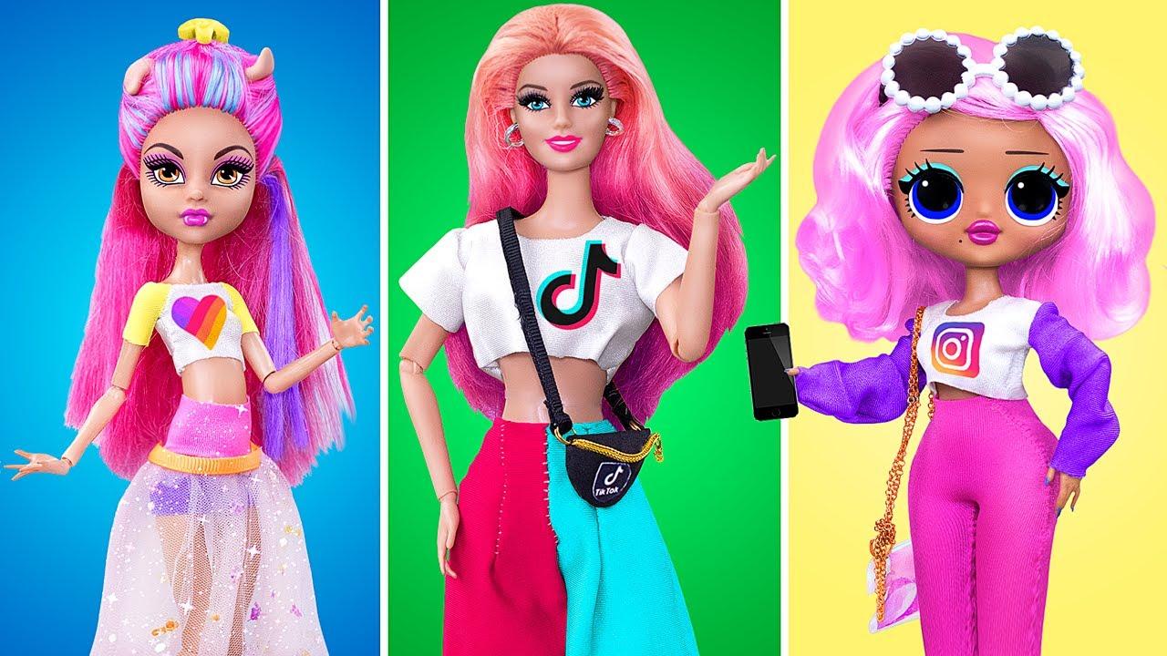Download 18 Barbie and LOL Surprise DIYs