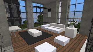 Minecraft - Modern apartment speedbuild and showcase - Ap. 2