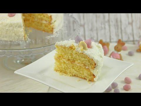 Kokos-Sahne-Torte- leckere Oster-Torte