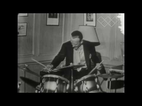 RARE!!!  Fred Astaire playing the drums in his bedroom