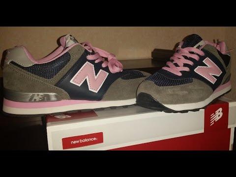 New Balance 574 rosa y gris Fake/ Imitación/ Falsas ...