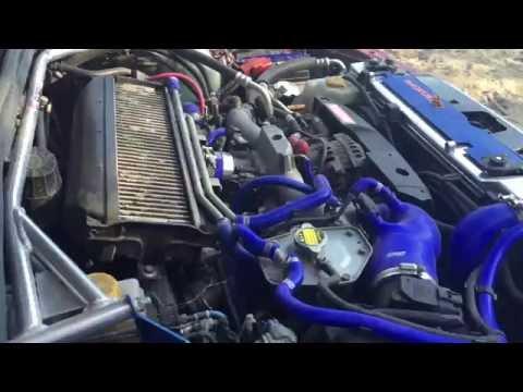 Работа двигателя Subaru Forester turbo на холодную
