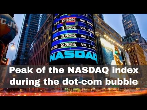 10th March 2000: The NASDAQ index peaked at the height of the dot-com bubble