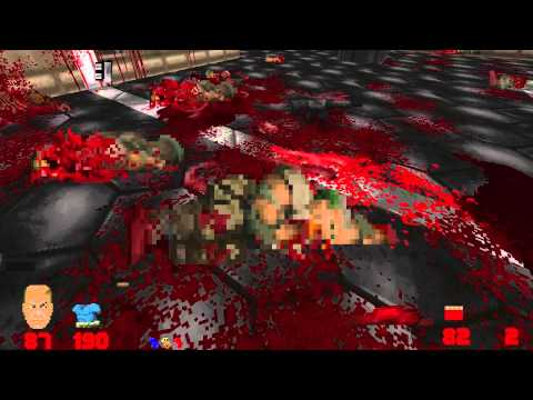 Brütal Doom v20 test - Dead bodies destroyable again.
