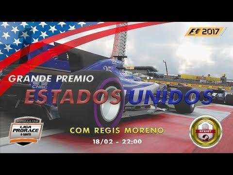 F1 2017 PRORACE   GP DO TEXAS   PC SPRINT   ETAPA 01 DE 08   NARRAÇÃO RÉGIS MORENO