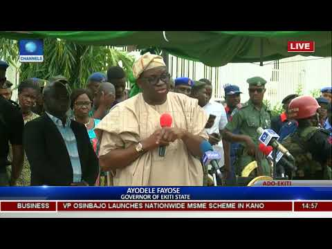 Commissioning Of Ekiti State High Court & Governor's Office Pt 6