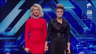 Katerina Biehu si Alexandra Craescu, fata in fata cu juratii X Factor