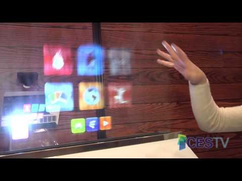 2013 CES Eureka Park - Displair's Water Vapor Display