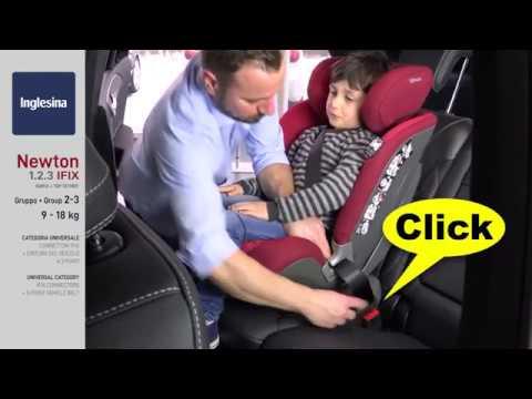 Детское автокресло Inglesina Newton IFix (видео группы 2-3)