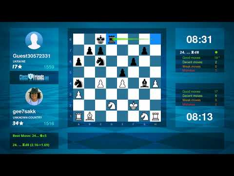 Chess Game Analysis: gee7sakk - Guest30572331 : 1-0 (By ChessFriends.com)