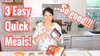 3 Easy & Quick Dinner Meals (family friendly & 10 mins for less prep time)