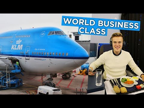 $4000 Flight In KLM 747-400 BUSINESS CLASS - Amsterdam to Hong Kong (My First Time on KLM)