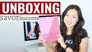Unboxing Savor The Success Daily Action Planner My Next 90 Days by Angela Jia Kim // Undated Planner