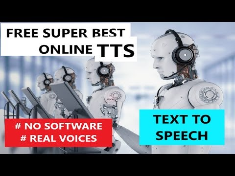 FREE SUPER BEST Text To Speech 2019 (real Voices)