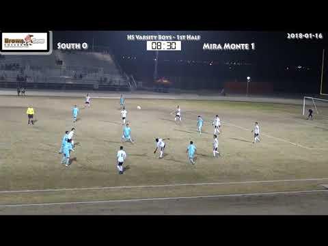 20180116 HS Varsity Boys  soccer South v Mira Monte 1st Half