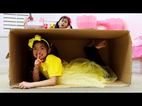 Emma and Jannie Pretend Play Hide and Seek | Learn To Help Others Kids Story