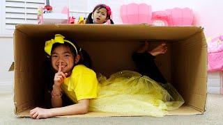 Emma And Jannie Pretend Play Hide And Seek | Learn