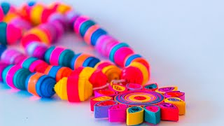 How to Make Quilling Beads Necklace