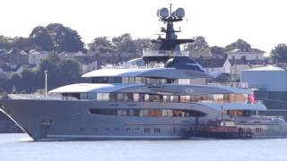KISMET - A billionaire's SUPERYACHT - outbound from london 3/10/16
