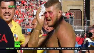 WATCH: Modern day gladiators get violent at football match