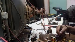 TV SEMP TOSHIBA MOD:2134 (B)SL SK-11 NÃO LIGA FONTE QUEIMADA