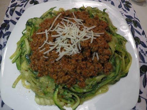 How to make keto spaghetti using zucchini noodles