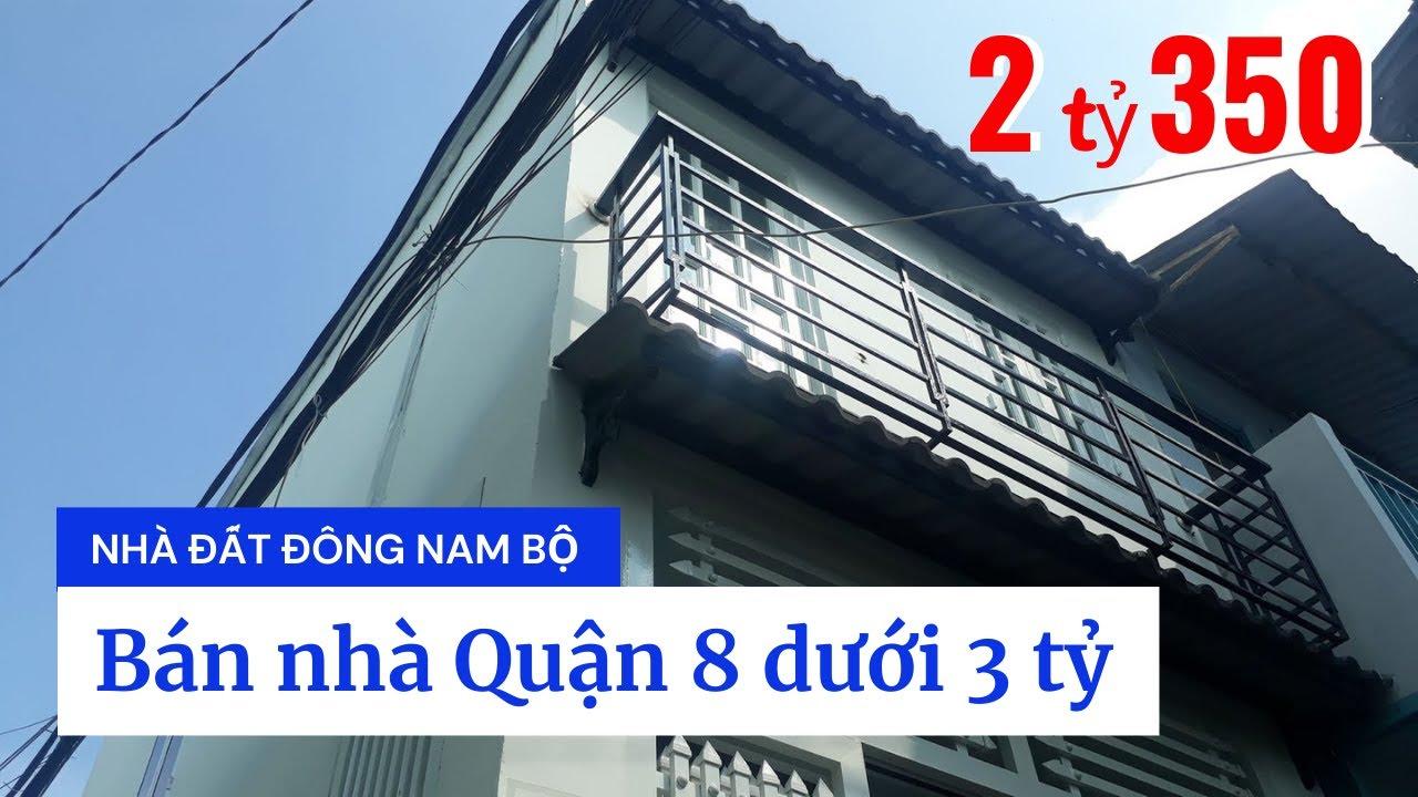 Bán nhà Quận 8 dưới 3 tỷ, hẻm 23 Đường số 16 (nối dài), gần chợ Phạm Thế Hiển