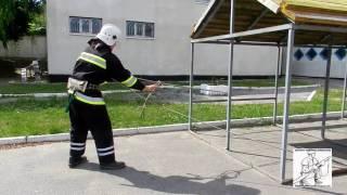 Закрепление спасательной веревки за конструкцию 1 способ