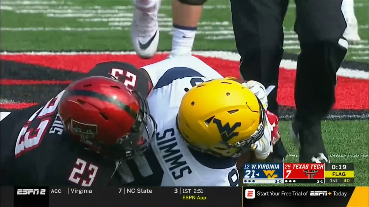 West Virginia Mountaineers vs. Texas Tech Red Raiders Game ...