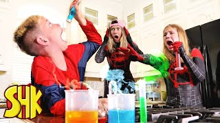 Stinky Drink Hide and Seek Challenge | SuperHeroKids Funny Family Videos Compilation